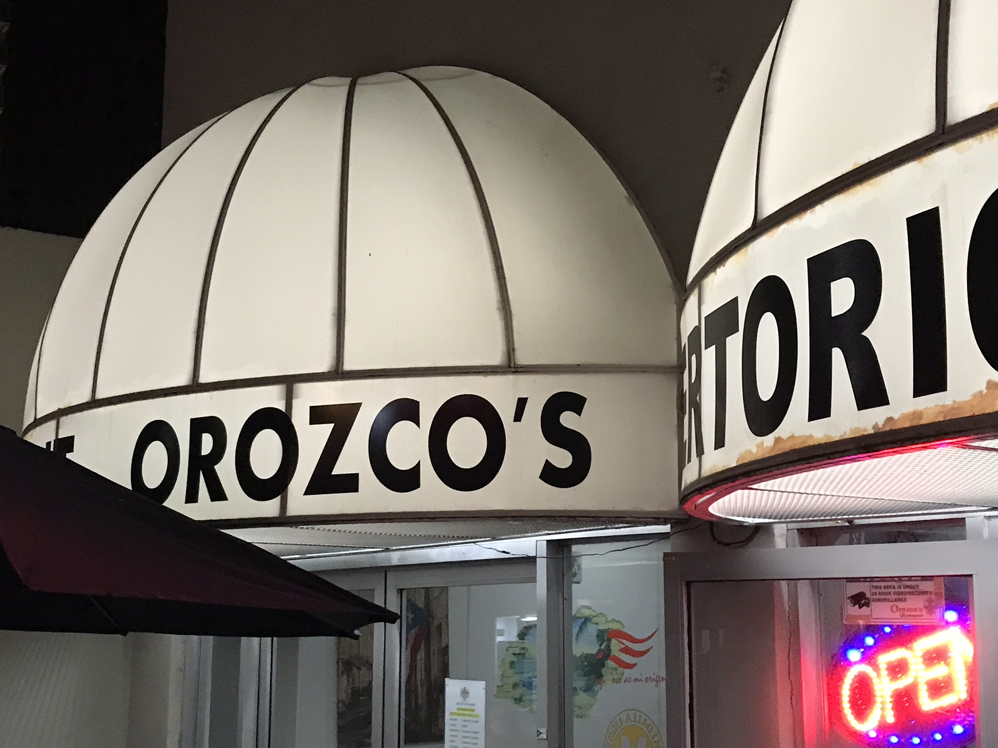 A Puerto Rican restaurant with my LAST NAME!!! <br> Orozco's Restaurant <br> 1126 Ashford Ave <br> San Juan, 00907, Puerto Rico